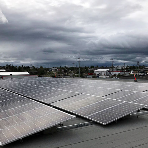 TGR Flat Roof Mounting System</br>64.6 kWp</br>170 Modules at a 10-degree tilt angle