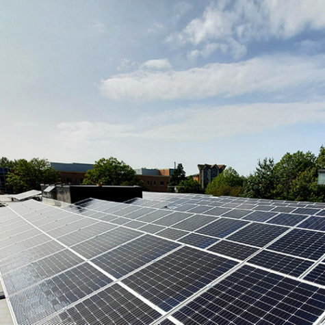 TGR Flat Roof Mounting System</br>74.69 kWp</br>194 Modules at a 17.5 tilt angle