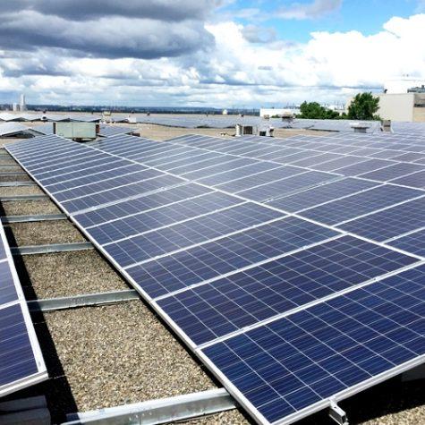 TGR Flat Roof Mounting System</br>600 kWp</br>13-degree tilt angle